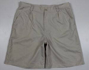 Under Armour Performance Golf Shorts MENS 34 Beige Polyester