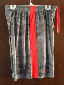 Men's Under Armour Heatgear Print Shorts Large Basketball Gray Camo Loose NWT