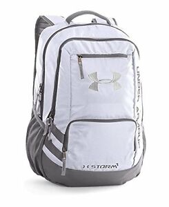 Under Armour Hustle II Backpack White...Under Armour Back Pack Sports Gym Bag