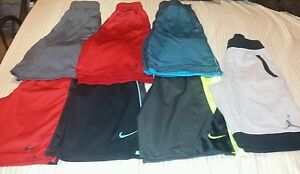 BOYS NIKE  JORDAN ATHLETIC SHORTS LOT SM MED DRI-FIT