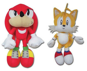 REAL GE Sonic the Hedgehog Series Stuffed Plush Toys Set of 2 - Knuckles