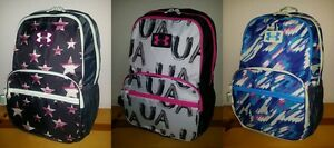NEW Girls Under Armour Great Escape Backpack 23L White Black Pink Blue Purple