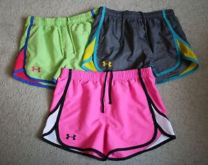 Lot 3 UNDER ARMOUR Youth Girls Escape Colorful Shorts YLG LARGE 1416