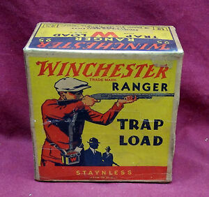 Winchester Ranger Trap Load wShooter in Red Sweater 12 Ga. 1Pc. Box Empty