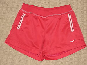 Girls Nike Shorts Youth Large 14 Pink Athletic Running Training Fitness Workout