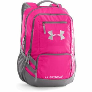 Under Armour Storm team Hustle Backpack 1272782-654 Tropic Pink New