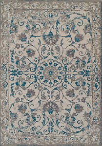Traditional Rugs 8x10 Blue Gray Distressed Rug 5x8 Vintage Carpet 2x4 Rugs $44.95