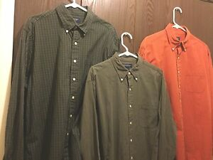 Lot Of 3 Brooks Brothers Sport Men's Button From Plaid Dress Shirts Size Large