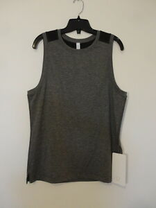 NWT LULULEMON HBLK Black Train and Gain Sleeveless Tank Top Shirt Men's XL