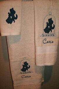 Beauty & Beast Dancing Personalized 3 Piece Bath Towel Set