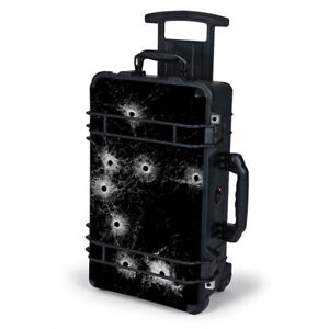 Skin Decal Wrap for Pelican Case 1510  Bullet Holes in Glass