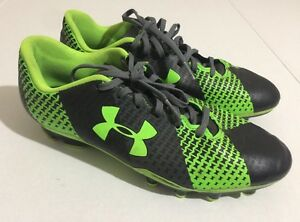 Under Armour Force Soccer Cleats Size 6Y Boys Neon GreenBlack
