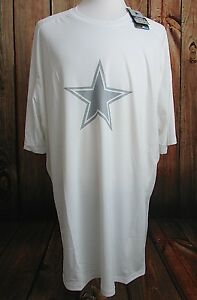 Mens Dallas Cowboys Nike Dri-Fit On Field Stay Cool Shirt 4XLT New White