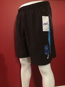 ASICS Men's Hydrology Black Brief Lining Woven Running Short - Size Large - NWT