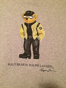 Vintage Polo Ralph Lauren Polo Sport Motorcycle Bear R1 Sz Large (105)