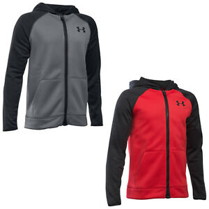 UNDER ARMOUR JUNIOR BOYS ARMOUR FLEECE STORM FULL ZIP HOODIE NEW UA KIDS JACKET
