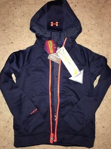 New Under Armour Boys Youth UA Storm 2  ColdGear Infrared Zip Hoodie Jacket Med