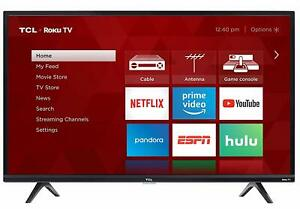 TCL 32-Inch 720p 60Hz Roku Smart LED HDTV with 3 x HDMI *32S325