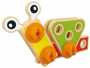 Wooden Nuts and Bolts Construction Builder Set Toy Tools