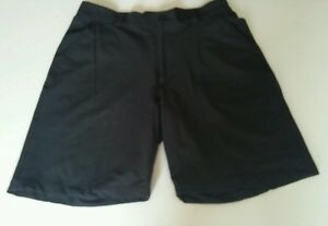 Mens Golf Shorts Under Armour  Black Flat Front Size 34R