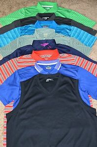 Lot of 8 Men's NikeAdidasUnder ArmourRalph Lauren Golf Polo Shirts Size 2XL
