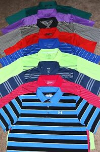 Lot of 9 Men's AdidasNikeTravis MatthewUnder Armour Golf Polo Shirts Size XL