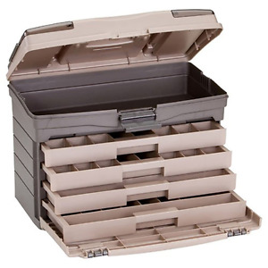 Plano 4-Drawer Tackle Box with Top Access Fishing Storage Outdoor New.