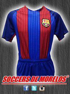 BARCELONA DRI-FIT SOCCER UNIFORMS (JERSEY SHORTS & SOCKS) PACKAGE WITH 15 SETS