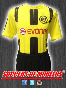BORUSSIA DRI-FIT SOCCER UNIFORMS (JERSEY SHORTS & SOCKS) PACKAGE WITH 15 SETS