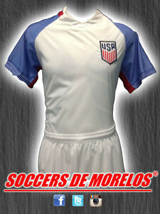 USA DRI-FIT SOCCER UNIFORMS (JERSEY SHORTS & SOCKS) PACKAGE WITH 15 SETS