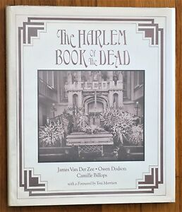 SIGNED X 3 JAMES VAN DER ZEE HARLEM BOOK OF THE DEAD 1978 1ST ED HC DJ FINE