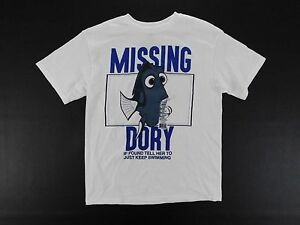 Disney Finding Dory T Shirt Womens Size L Large Running Casual Outer Wear White