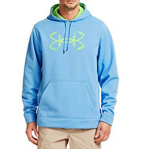 Under Armour Mens Cold Gear Storm Hoodie Fish Hook Water Resistant Fishing XL