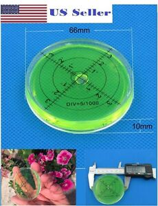 66mm Large Spirit Bubble Level Degree Mark Surface Circular Measuring Bulls Eyes