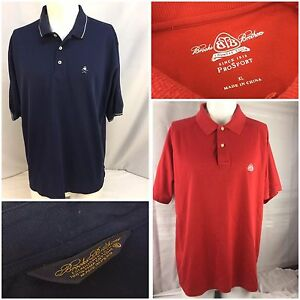 Brooks Brothers Polo Shirts XL Lot Of 2 Red Sport Blue Cotton EUC YGI 90F1317