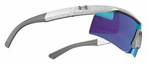 Under Armour Dynamo Youth Sunglasses Shiny White wBlue Multiflection Lens