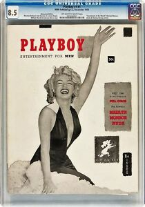 CGC 8.5 VF+  DECEMBER 1953 PLAYBOY MAGAZINE 1st ISSUE MARILYN MONROE V1 #1