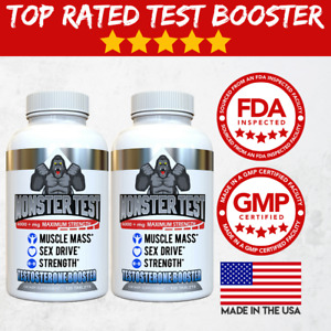 Testosterone Booster Monster Test for Men More Muscle Mass 6000 MG 2 Pack $19.49