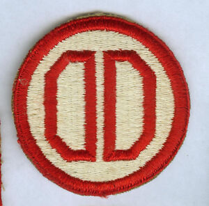 WWII ARMY 31ST INFANTRY DIVISION SNOW BACK CUT EDGE SSI PATCH INSIGNIA $7.74