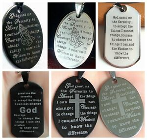 50x Top Mix of Serenity Prayer Bible Stainless Steel Pendant Necklaces WChain