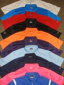LOT 10 SOLID NIKE TOUR PERFORMANCE DRI-FIT FIT-DRY SS GOLF POLO SHIRTS SZ XL