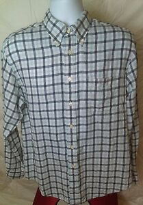 Current $120 Brooks Brothers Regent Fit Sport Shirt in 100% Irish Linen Large