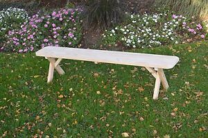 Pressure Treated Pine Cross Leg  Bench - 2 3 4 5 6 & 8 Foot