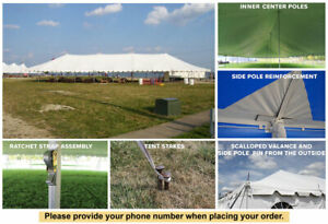 20' x 100' Classic Series Pole Tent Sectional Wedding Party Outdoor Marquee
