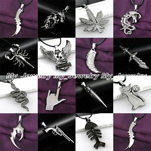 Stainless Steel Pendant Necklace Best Jewelry Gifts Fashion Cool Women Men Black