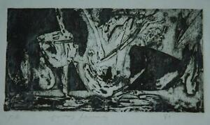 Modernist 1981 Lithograph of Camel or Giant Rabbitt? Illegibly Signed Proof $99.00