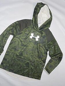 Under Armour girls Cold Gear storm camo Hoodie Sweatshirt  YLG youth Large 14-16