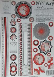 A4 Paper Tole Dee#x27;s Deco Razzle Penny Spinner Kit Card Making NEW