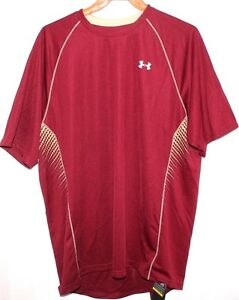 UNDER ARMOUR HEAT GEAR LOOSE ACTIVE TOP SHIRT MEN XL EXTRA LARGE BURGUNDY