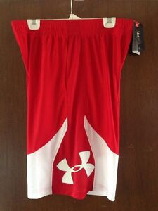 Under Armour Heatgear Men's Mo Money Basketball Shorts XL Red White NWT